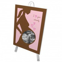 Bonnie Marcus Collection Love at First Sight Sonogram Frame in Pink - PSFR - Decor