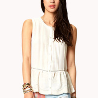 Emboridered Waist Georgette Top