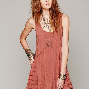 Free People Womens Ruffled Up Cami -