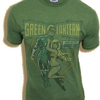 Junk Food The Green Lantern Comic Girl Cactus Green Mens T-shirt