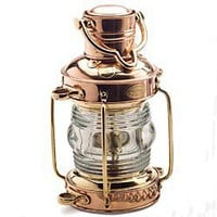 Solid Brass & Copper Nautical Oil Lamp, Anchor Lamp, Ship's Oil Lantern