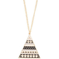 With Love From CA Black And White Pyramid Necklace at PacSun.com