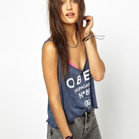 Obey | Obey 89 Propaganda Crop Top at ASOS
