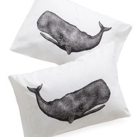 Worth Your Whale Pillowcase Set | Mod Retro Vintage Decor Accessories | ModCloth.com
