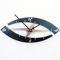 Sweep II Modern Wall Clock (Hunt Club Green) Custom Color Available