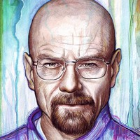 """Walter White - Breaking Bad"" - Art Print by Olga Shvartsur"
