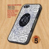 5SOS QUOTE - Print On Hard Case iPhone 5 Case