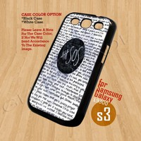 5SOS QUOTE - Print On Hard Case Samsung Galaxy S3 i9300