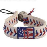 MLB Boston Red Sox Stars and Stripes Baseball Bracelet:Amazon:Sports & Outdoors