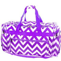 "Chevron Print Large 22"" Duffle Travel Luggage Bag Dance Cheer"