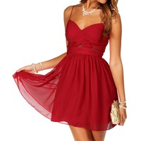 Elly- Cardinal Red Short Homecoming Dress