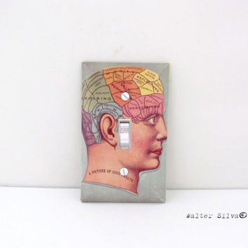 Picture of Good Health Light Switch Plate - House Decoration - Decorative Decoupaged switch plates