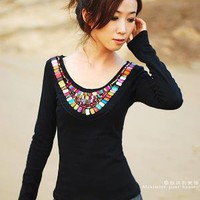 Black Knitwear shirt by xiaolizi on Etsy