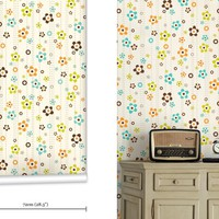 mm0143w - Flower Shower Childrens Floral Wallpaper