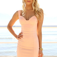 SABO SKIRT  Vibe Bodycon Dress - Peach - $48.00