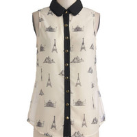 Wanders of the World Top | Mod Retro Vintage Short Sleeve Shirts | ModCloth.com