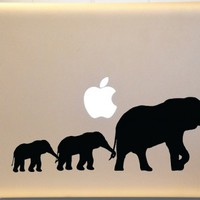 Elephant Family Macbook Decal Vinyl Sticker for Mac PC Laptop