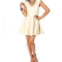 Ivory Cap Sleeve Sequin Dress