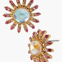 Betsey Johnson 'Paris' Crystal Flower Stud Earrings | Nordstrom