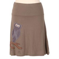 owl your lovin eco-friendly skirt in mushroom gray by Synergy - $54.99 : ShopRuche.com, Vintage Inspired Clothing, Affordable Clothes, Eco friendly Fashion