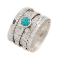 Turquoise Silver Spinning Ring