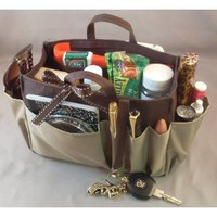 Taupe Handbag Purse Organizer 
