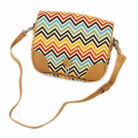 Rainbow Wave Satchel For IPad Mini