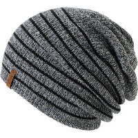 Empyre Girls Juliet Black & Charcoal Stripe Beanie at Zumiez : PDP