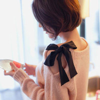 CUTE BOWKNOT NICE SWEATER For girls