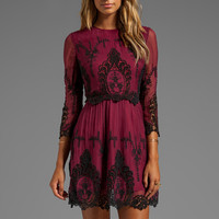 Dolce Vita Valentina Dress in Burgundy/Black from REVOLVEclothing.com