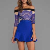 Three Floor Kloss Up Dress in Blue
