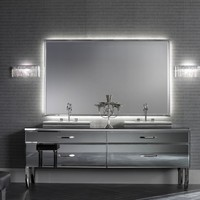 Milldue Hilton 12 Smoked Lacquered Glass Luxury Italian Bathroom Vanities