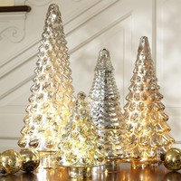 Silver Mercury Glass Trees