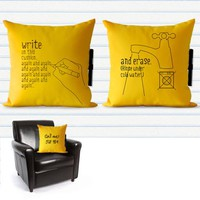 Supermarket: Note Me Pillow from 24Dientes
