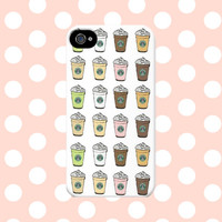 Starbucks Frappuccino Drinks iPhone4/4s/5/5s/5C Case