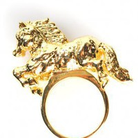 En Gallop Ring (Gold) | obey | 80's Purple