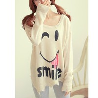 Smiley bat sleeve sweater JCBBC