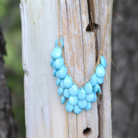 Mini Teardrop Necklace: Aqua | Hope's
