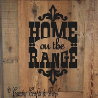 Country Home on the Range Vinyl Wall Decal