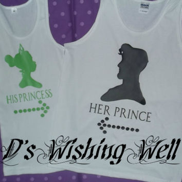 Free 2 Day Shipping in US Princess and the Frog Couples Tank Tops