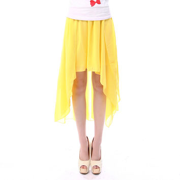 canary yellow hi low skirt from dailycharms show