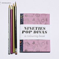 90's POP Divas - A Mini Colouring Book