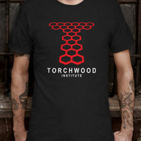 New Torchwood Institute Doctor Who Linear Logo T-Shirt Tee Size L (S to 3XL av)