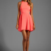 Naven EXCLUSIVE Jackie Circle Skirt Dress in Coral