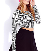 Must-Have Geo Crop Top | FOREVER 21 - 2000050511