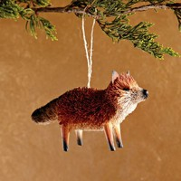 Bottle Brush Ornament - Fox