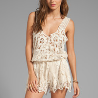 Jen's Pirate Booty Harmony Romper in Cream