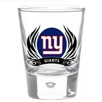 New York Giants 2 oz Round Shot Glass Tribal Flames Officially Licensed Team Logo NFL Football:Amazon:Cell Phones & Accessories