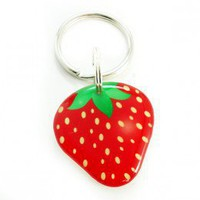 Red Strawberry Pet Id Tag - Happy Tags