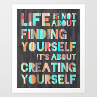 Create Yourself Art Print by Jacqueline Maldonado